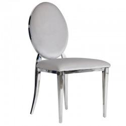 Krzesło PIRELLI VELVET jasnoszare