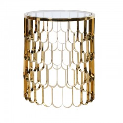 Złoty stolik AQUARIUS