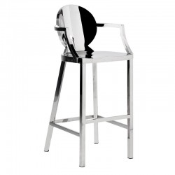 Stalowe krzesło barowe GLAZE