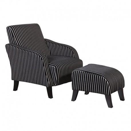 Fotel z podnóżkiem BEAULIE