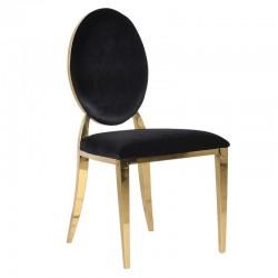 Krzesło PIRELLI GOLD BLACK