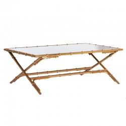 Złoty stolik BAMBOO MIRROR