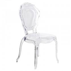 Bezbarwne krzesło LUCILLE