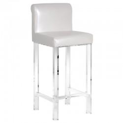 Krzesło barowe BIANCO PERLA