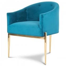 Fotel ART NOUVEAU Gold Turquoise