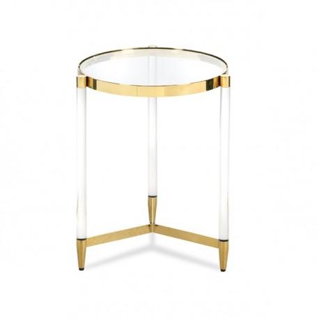 Okrągły stolik PRIVE złoty