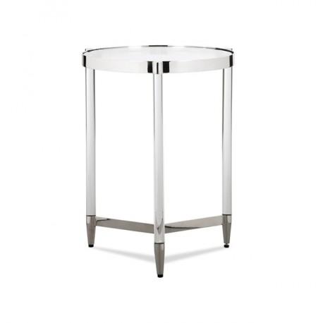 Okrągły stolik PRIVE srebrny