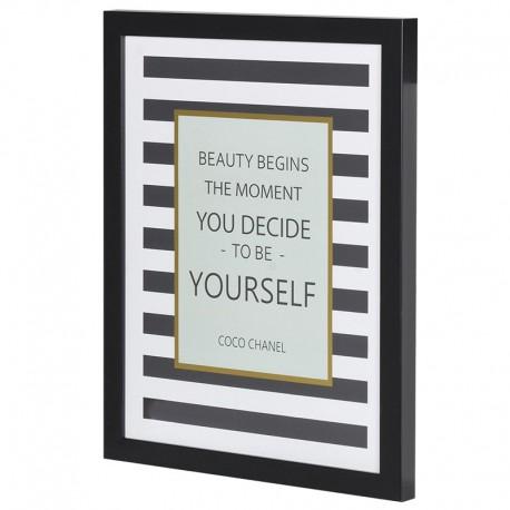 Obraz Z Motto Coco Chanel Inspirodesignpl