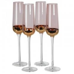 Komplet kieliszków do szampana DOLCE purpurowe