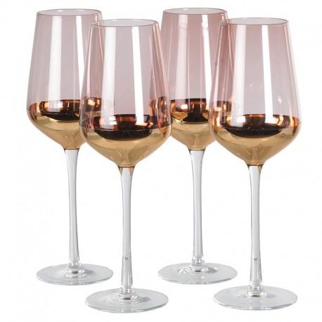 Komplet kieliszków do białego wina DOLCE purpurowe