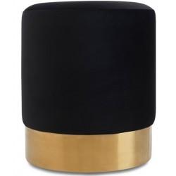 Pufa OTTAVIO czarno złota