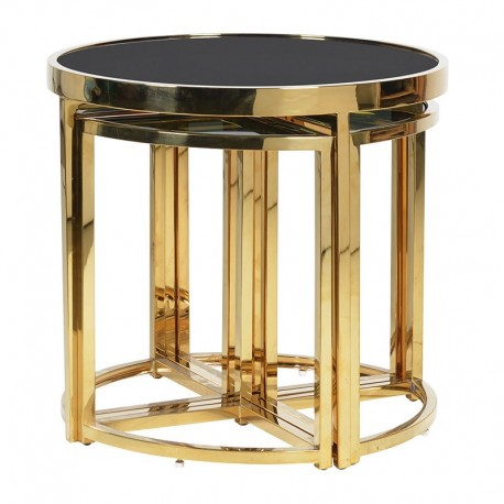 Komplet stolików METROPOLIS Gold Black