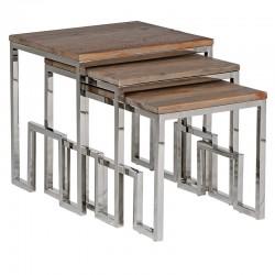 Zestaw stolików CASCADA WOOD