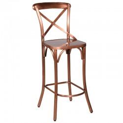 Krzesło barowe SCRIBE miedź