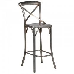 Krzesło barowe SCRIBE nikiel