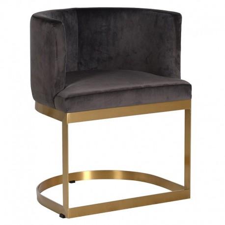 Fotel DECO NOUVEAU Gold Brown