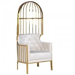 Fotel METROPOLIS PORTER Gold White