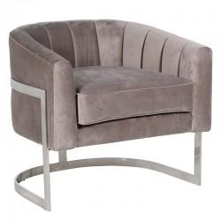 Fotel DECO NOUVEAU Silver Taupe