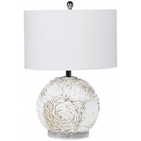 Lampa WHITE SEASHELL FLOWER