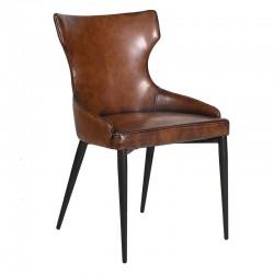 Krzesło LEATHERETTE BROWN
