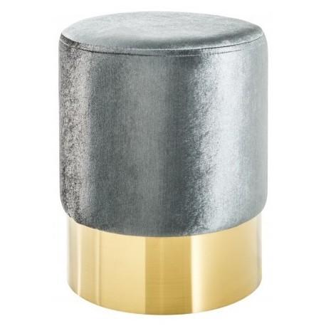 Pufa OTTAVI srebrno srebrna mała