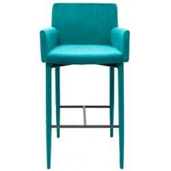Krzesło barowe CARIATI turkusowe