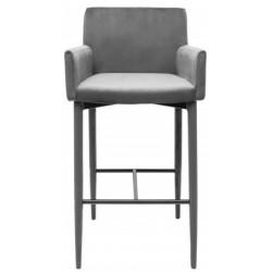 Krzesło barowe CARIATI szare