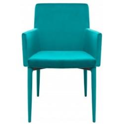 Krzesło z podłokietnikami CARIATI turkusowe
