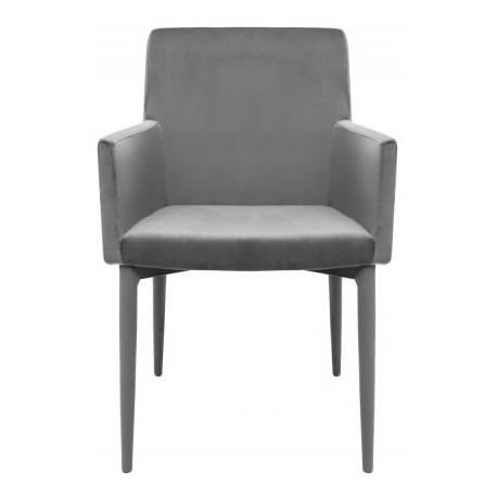 Krzesło z podłokietnikami CARIATI szare