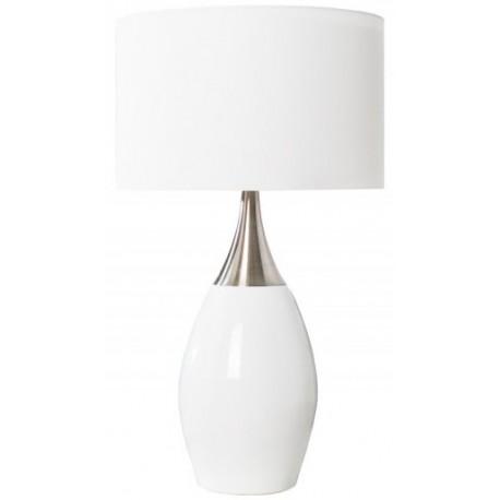 Lampa ELOISE biało srebrna