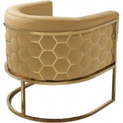 Fotel MIELE żółto złoty