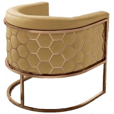 Fotel MIELE żółto miedziany