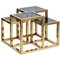 Kaskadowy stolik QUADRE Gold Black