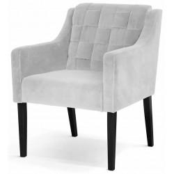 Fotel AVA srebrny
