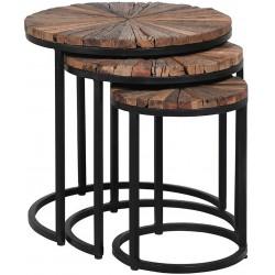 Komplet stolików NATURE ROUND