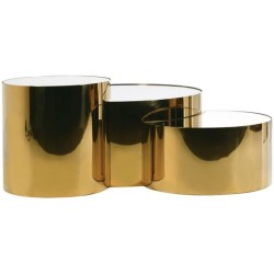 Zestaw stolików GEOMETRIA GOLD