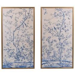 Komplet obrazów BLUE TREES