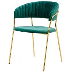 Krzesło SEVERIN szmaragdowe