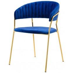Krzesło SEVERIN niebieskie