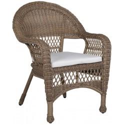 Stylowe krzesło wiklinowe COASTAL