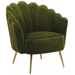 Fotel OLIVASTRO GOLD SHELL