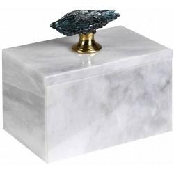 Marmurowy pojemnik / szkatułka TURMALIN