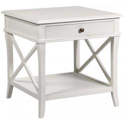 Stolik boczny ELEONORE biały