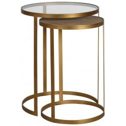 Zestaw stolików GOLD RATTAN