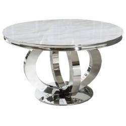 Stół LAYFORD okrągły kremowy