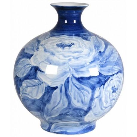Ręcznie malowany wazon BLUE ROSE