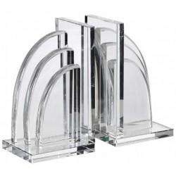 Kryształowe podpórki do książek ART DECO