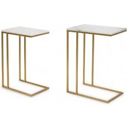 Zestaw stolików pomocniczych GOLD & MARBLE