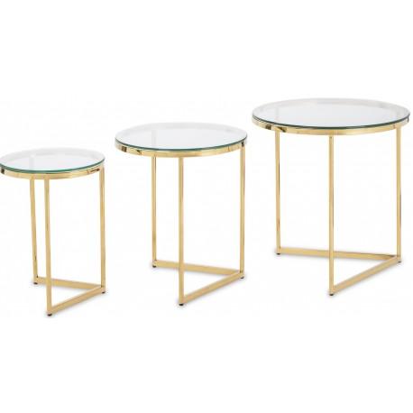 Zestaw stolików GOLD CORNER