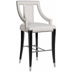 Krzesło barowe ALORA kremowe